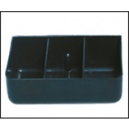 Transforming Technologies TC0843 ESD-Safe Tool Carrier 4 Compartment Insert Black Conductive Polypropylene (VSP)