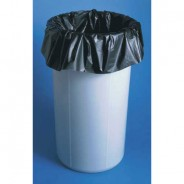 "Botron Trash Can Liner 24""x24""x4mil (10Gallon) Black Conductive Poyethylene 100/Pack"