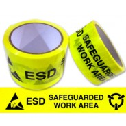 "AM2401 Transforming Technologies ESD Aisle Marking Tape 2""x36 Yards 2mil Vinyl Yellow/Black"
