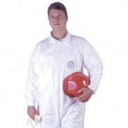 Tyvek® Coveralls w/ Elastic Wrist & Ankle Size:Med White (25 Pcs/Case)