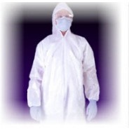 Tyvek® Coveralls Cleanroom Elastic Wrist & Ankle with Attached Hood & Boots Size: 2X-Large Color: White 25/Case