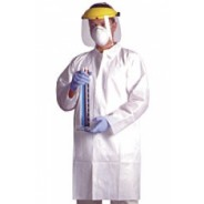 Ultraguard Lab Coat Cleanroom Open Wrist, Two Pockets, Full Collar Disposable Advantage Plus