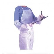 APP0280-36 APRON DISPOSABLE WHITE ONLY 3LAYER