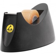 "B1606 Botron ESD-Safe Conductive Plastic Body Tape Dispenser with One 1"" Wide Spool, 1"" Core"