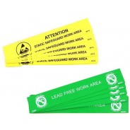 "B67106 Botron 1""x6"" Lead-Free Bench Awareness Sign  10/Pack"