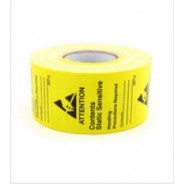 "B6712 Botron 1-3/4""x2-1/2"" Awareness Label JEDC-14 Write-On Yellow/Black 500/Roll"
