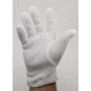 "Botron Dissipative 9"" Gloves With PVC Dotted Palm Size Small Color: White 10Pr/Pack"