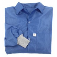 Botron Light Weight ESD Jacket 88% Polyester/12% BASF Conductive Fiber W/ESD Cuff Size: X-Large Color: Blue
