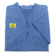 Botron Light Weight ESD Pull Over Shirt 88% Polyester/12% BASF Conductive Fiber W/Short Sleeves