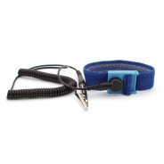 "B9144 Botron Comfort Wrist Strap Only Blue Fabric Adjustable With 1/4"" (7mm) Snap"