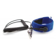 "Botron Wrist Strap Set Blue Hook/Loop With Standard 12' Cord 1/4"" (7mm) Snap"