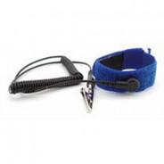 "Botron Wrist Strap Set Blue Hook/Loop With Standard 12' Cord 1/8"" (4mm) Snap"