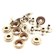 "B9849 Botron Snaps 3/8"" (10mm) Rivets & Female Sockets 100/Bag"