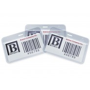 "Botron ESD-Safe ID Card Holder Anti-Static 2.5""x4"" Vertical With Clip 200/Pack"