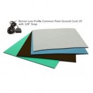 "Botron Type C Comfort Stat 3-Layer Rubber Worktop Mat 24""x72""x1/8"" Includes 3/8"" Female Snap & Common Point Ground Cord Color: Blue"