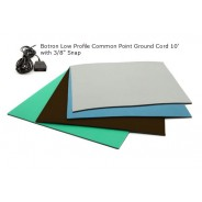 "Botron T3+ Type C Comfort Stat 3-Layer Rubber Worktop Mat 24""x72""x1/8"" Includes 3/8"" Female Snap & Common Point Ground Cord Color: Brown"