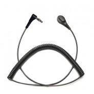 Transforming Technologies CC9000R Series  Premium Right Angle Coil Cord Single Wire 12' Black 4mm (VSP