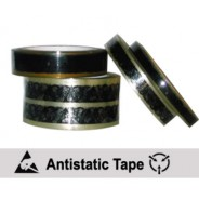 "CL2402-P Transforming Technologies Anti-Static 1""x72 Yard Transparent Tape 3"" Core With ESD Symbols"