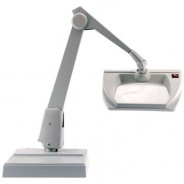 MR100-ES-DG Dazor ESD-Safe Illuminated Magnifier MR100-ES 3-Diopter Weighted Base 8MR Series Color: Dove Grey (VSP)