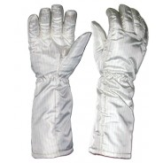 "Transforming Technologies FG3903 ESD-Safe Cleanroom High Temp Nomex® Gloves 572Deg F Unisex 16""L Size: Large (VSP)"