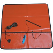 "Transforming Technologies FSM2424R-F ESD-Safe Field Service Kit 24""x24"" With (2) 10mm Female Snaps, Wrist Strap Set & Ground Cord Color: Red (VSP)"