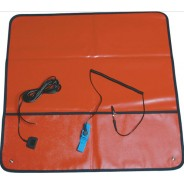 "Transforming Technologies FSM2424R ESD-Safe Field Service Kit 24""x24"" With (2) 10mm Male Snaps, Wrist Strap Set & Ground Cord Color: Red"