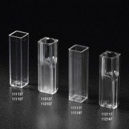 112117 -500-Globe Scientific Cuvette Semi-Micro, 2.5mL, with 2 Clear Sides, PS500/Case
