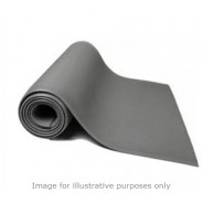 "B64250 Botron Type T2 Rubber 2-Layer Roll 24""x50'x0.60"" Color: Gray"