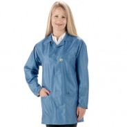"Tech Wear EconoShield ESD-Safe 30""L Coat ECX-500 Color: Royal Blue Size: X-Small"