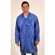 "LIC-43 Tech Wear Traditional ESD-Safe 34""L Coat IVX-400 Color: Royal Blue Size: Medium (VSP)"