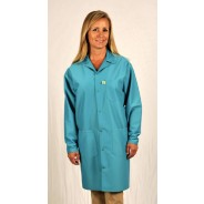 "LIC-83-3X Tech Wear Traditional ESD-Safe 40""L Coat IVX-400 Color: Teal Size: 3X-Large"