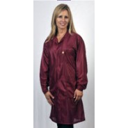 "Tech Wear ESD-Safe 32""L Traditional Coat OFX-100 Color: Burgundy Size: X-Small"