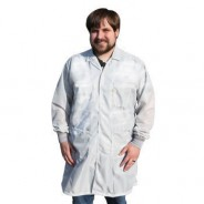 "Tech Wear ESD-Safe 40""L Traditional Coat With ESD Cuff OFX-100 Color: White  Size: X-Large"