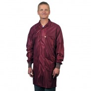 "Tech Wear ESD-Safe 40""L Traditional Coat With ESD Cuff OFX-100 Color: Burgundy Size: Small"