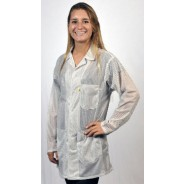 "Tech Wear ESD-Safe 32""L Traditional Jacket OFX-100 Color: White Size: X-Small"