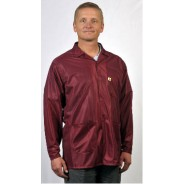 "Tech Wear ESD-Safe 32""L Traditional Jacket OFX-100 Color: Burgundy Size: X-Small"