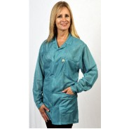 "Tech Wear ESD-Safe 32""L Traditional Jacket OFX-100 Color: Teal Size: Medium"