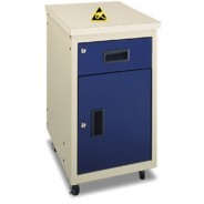 "1050652 IAC Industries Mobile Cabinet ESD-Safe, with (1) 6"" Drawer and (1) 18"" Locker w/Shelf, Right Hand"