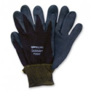 QRP Qualagrip® Assembly/Inspection Gloves With Black Nitrile-Foam Dipped Palms & Fingers