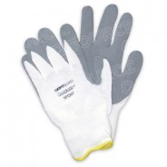 QRP Qualagrip® Assembly/Inspection ESD-Safe Gloves With Grey Nitrile-Foam Dipped Palms & Fingers