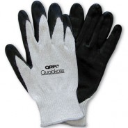 QRP Qualakote® Polyurethane Palm Coated Gray Cut Resistant Glove Size: 2X-Large Color: White Dyneema® With Black Nylon Knit 12Pair/Pak