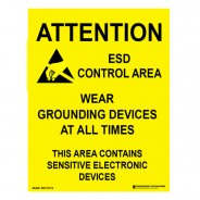"SN11X17A Transforming Technologies ESD Poster 17″x22″ ""Attention ESD Control Area"" 5pack"