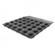 "Botron Soft Foot Anti-Fatigue Vulcanized Rubber Mat 2'x3'x1/2"" Black Conductive W/Snap & Ground Cord"