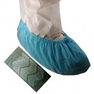 T514673B Epic Shoe Cover Blue Cleanroom Skid Free Polypropylene Universal Size 100/Bag 3Bags/Case 514673-2xl-b