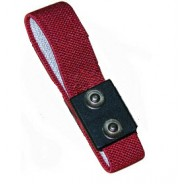 Transforming Technologies WB0025 Wrist Strap Dual Conductor Set Adjustable Dual 4mm Maroon Fabric