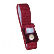 Transforming Technologies WB2600 Series Wrist Strap Only Adjustable 4mm Maroon Fabric (VSP)