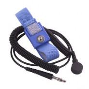 Transforming Technologies WB1637 Wrist Strap Set, Black, 6', 4mm Blue fabric band