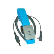 Transforming Technologies WB7000 Series Wrist Strap Dual Conductor Set Adjustable Turquoise Fabric With 5' Coil Cord (VSP