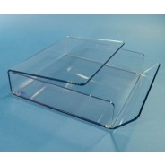"WD-12.5 S-Curve Cleanroom Table Top Wiper Dispenser 12.5""Wx3""Hx12.5""Dx1/4""Thick Clear Acrylic For 12""x12"" Wipes"