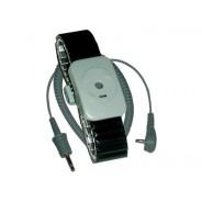 Transforming Technologies WB5000 Series Dual Conductor Black Speidel Metal Wrist Strap With 20' Coil Cord Size: Medium (VSP)